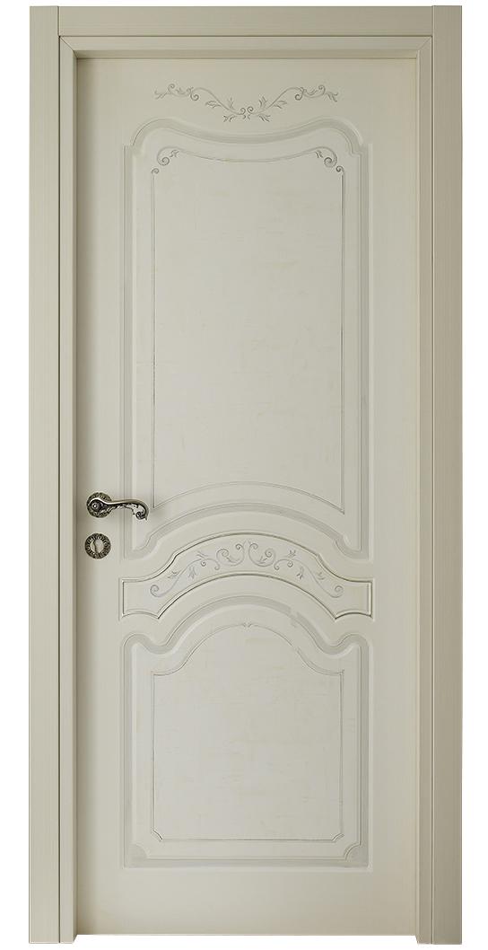 I Decorati – D 640 Q Bianco Patinato spatolato con argento