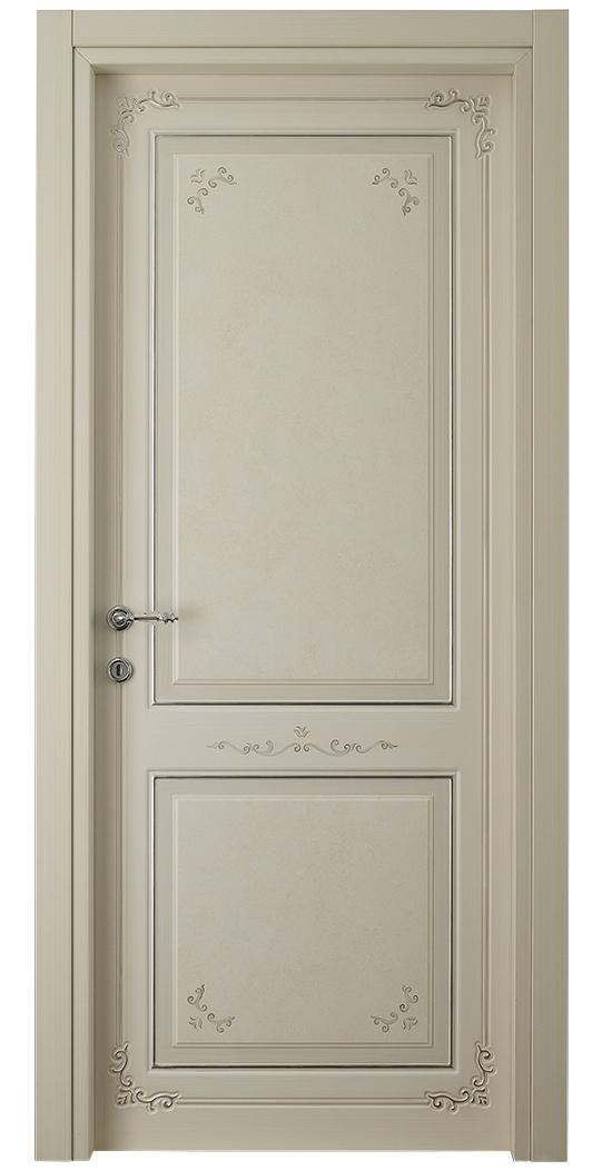 I Decorati – D 660 Q Bianco Patinato con argento