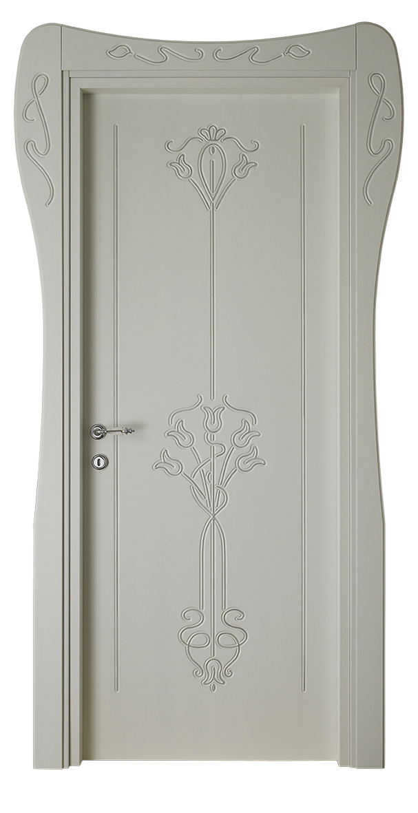 Les Nouveaux – L 730 Q Rigato bianco ghiaccio con bisello argento