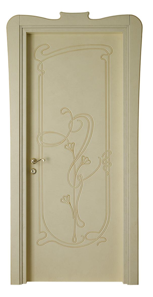 Les Nouveaux – L 740 Q Tamponato beige con bisello patinato e tocchi oro