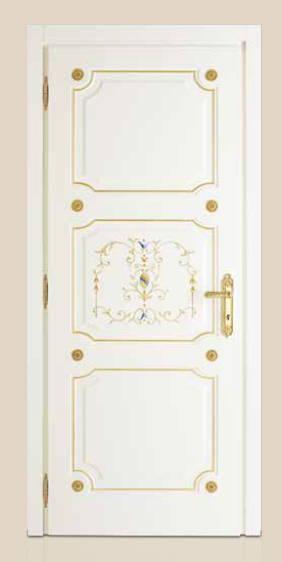 I Laccati – P 401 Q Laccato Bianco con bisello oro