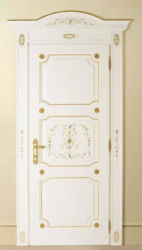 I Laccati – P 405 Q Laccato Bianco con bisello oro