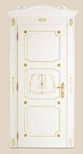 I Laccati – P 408 Q Laccato Bianco con bisello oro
